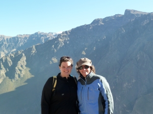 My sister and I, Colca Canyon-Condor Point