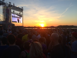 Flogging Molly over sunset!