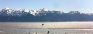 Kite Surfers along Turnagain Arm