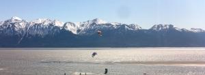 Kite Surfers along Turnagain Arm