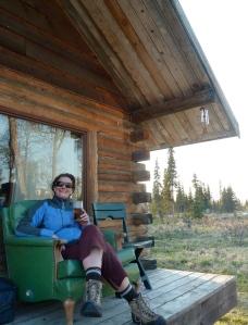 Me in a friend's porch, Ninilchik, AK