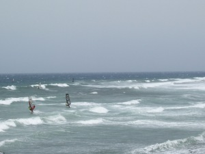 Watching wind surfers, Gran Canaria, Canary Islands, Spain