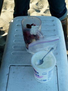 That's right, a smoothie for breakfast-car camping technology