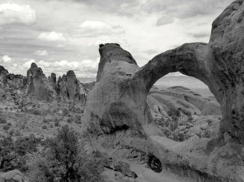 Top Section of Double O Arch, Arches National Park