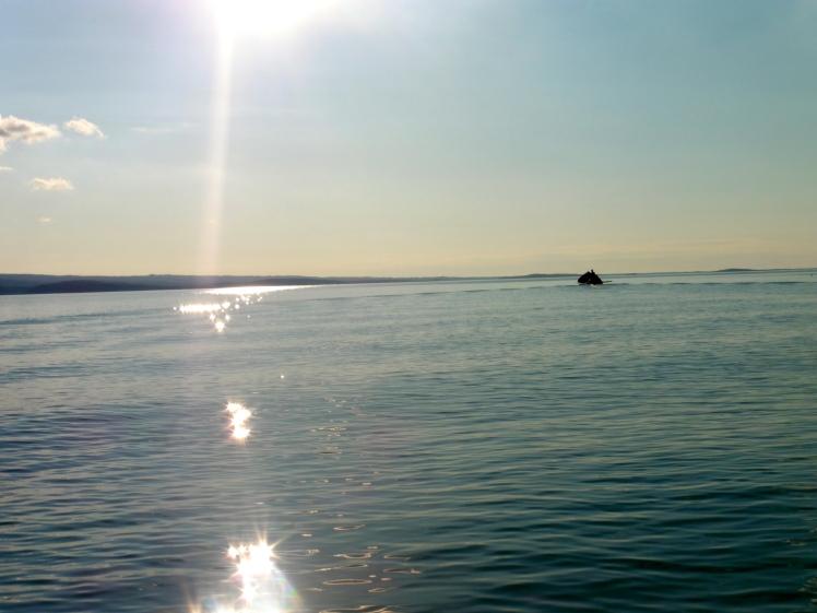 Crossing Skilak Lake
