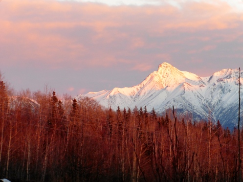 Palmer, AK at sunset
