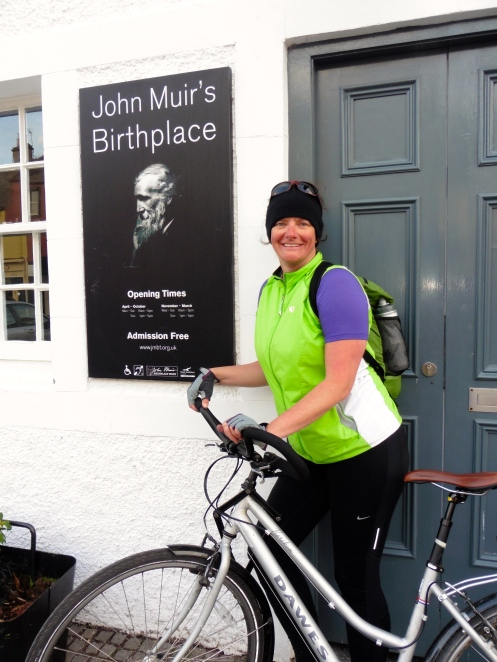 Finish line at John Muir's Birthplace, Dunbar