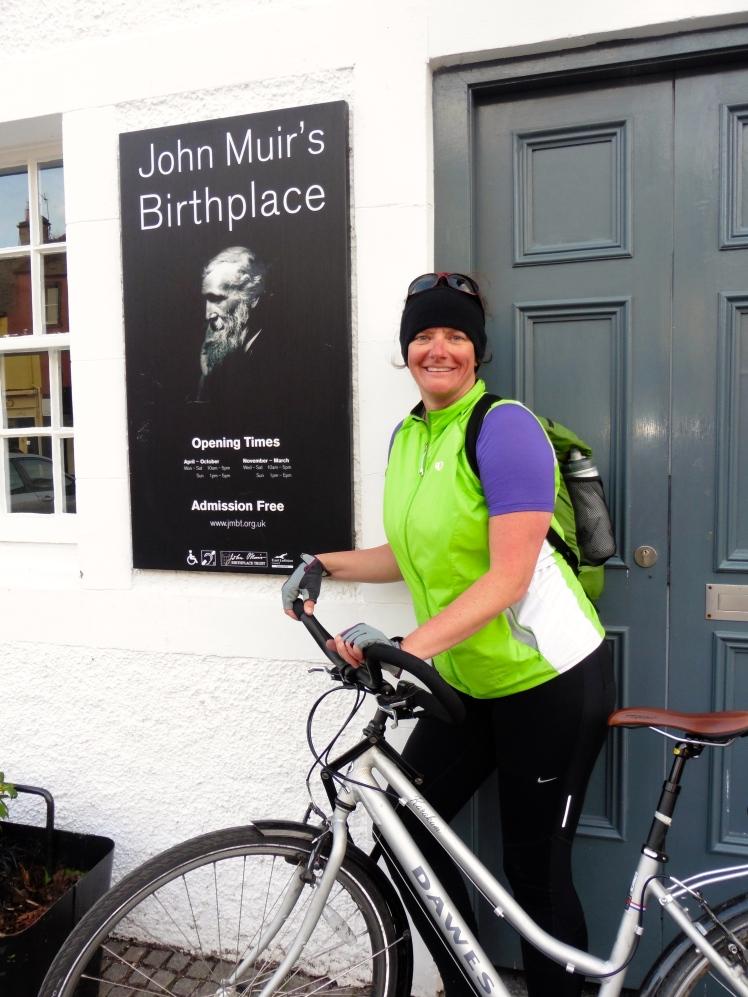 Finish line at John Muir's Birthplace, Dunbar
